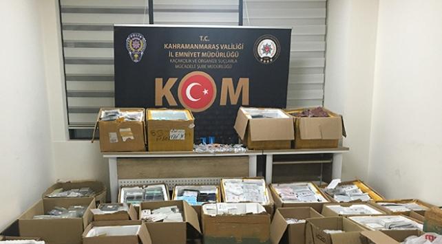Kahramanmaraşta 16 bin kaçak cep telefonu ele geçirildi