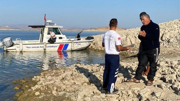 Elazığda kaçak balık avlayan kişiye 12 bin 500 lira ceza