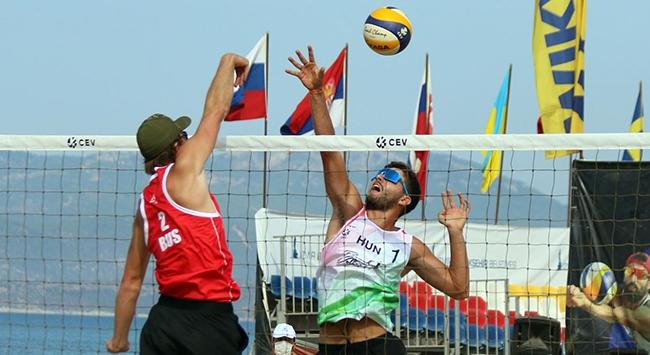 22 Yaş Altı Plaj Voleybolu Avrupa Şampiyonası İzmirde başladı