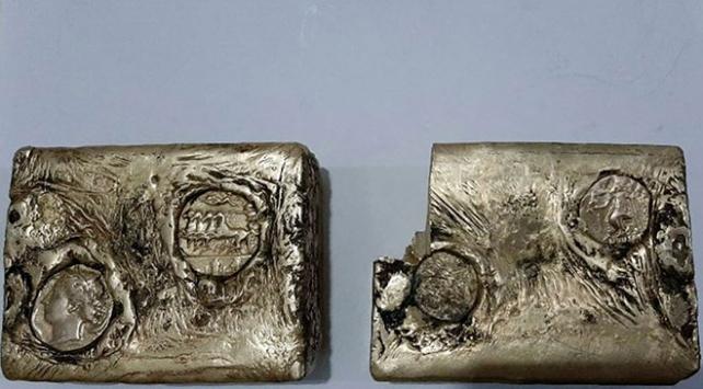 Antik Yunan dönemine ait külçe altın ele geçirildi
