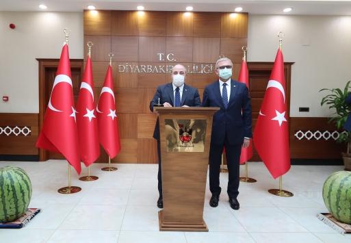 Sanayi ve Teknoloji Bakanı Varank, Diyarbakır Valiliğini ziyaret etti