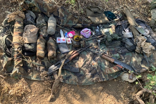 Irakın kuzeyinde terör örgütü PKKya ait silah ve mühimmat ele geçirildi