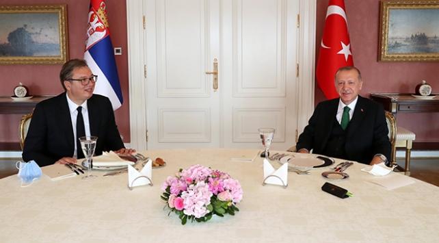 Erdoğan, Sırbistan Cumhurbaşkanı Vucic ile bir araya geldi
