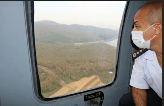 Sakarya İl Jandarma Komutanlığı trafiği havadan denetledi
