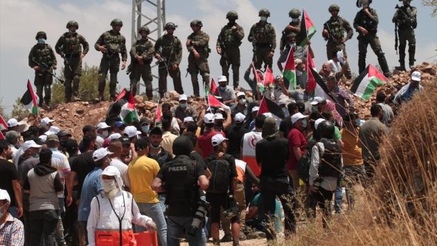 İsrail ordusundan Batı Şeriadaki gösteriye müdahale