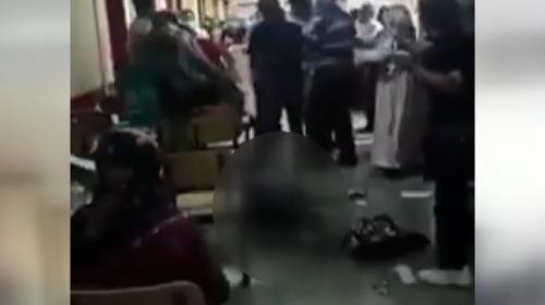 Maske uyarısına sinirlenen kişi sağlık çalışanını darbetti