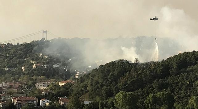 Anadolu Hisarı yakınındaki orman yangını söndürüldü