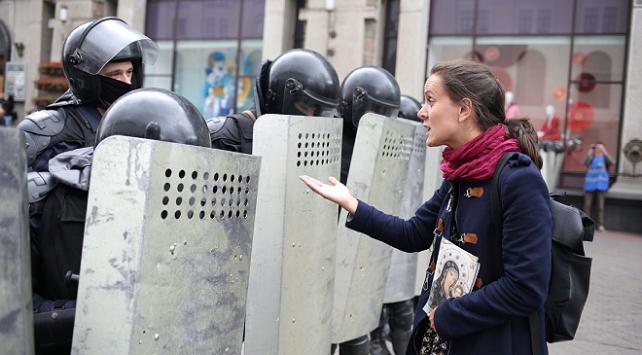 Belarustaki protestolarda 150 kişi gözaltına alındı