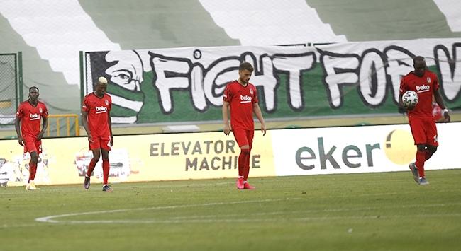 Beşiktaş Konyada hüsrana uğradı