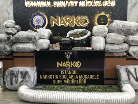 İstanbulda 188 kilogram Hint keneviri ele geçirildi