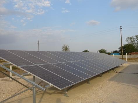 Kırklarelinde bir köye 80 güneş paneli konuldu