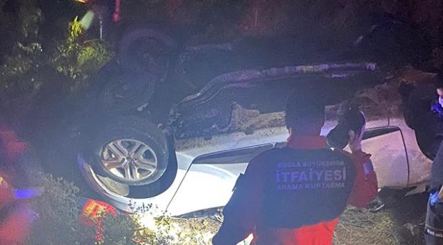Muğlada otomobil şarampole devrildi: 1 ölü
