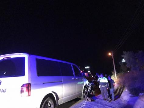 Muğlada minibüs ile motosiklet çarpıştı: 1 ölü, 1 yaralı