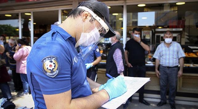 Eskişehirde tedbirlere uymayan 95 kişiye ceza