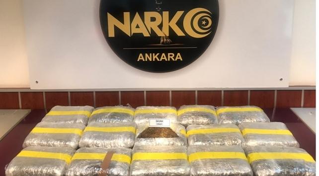Ankarada 78 kilo uyuşturucu ele geçirildi
