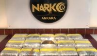 Ankara'da 78 kilo uyuşturucu ele geçirildi
