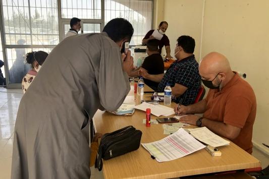 DEAŞtan kaçarak Suriyeye sığınan Iraklıların ülkelerine dönüşü sürüyor