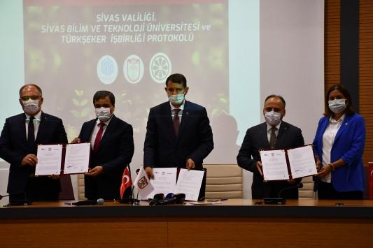 Sivasta tarımın gelişmesi için Türkşeker ile işbirliği protokolü imzalandı