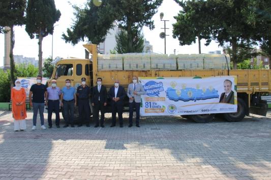 Erdemli Belediyesi, 81 ildeki 81 okula limonata gönderdi