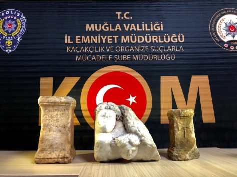 Muğlada tarihi eser kaçakçılığı yaptığı öne sürülen zanlı yakalandı