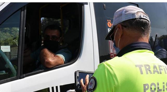 Kahramanmaraşta tedbirlere uymayan toplu taşıma araçlarına durdurma cezası