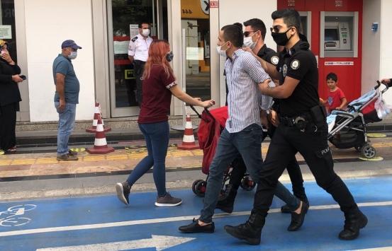 Düzcede maskesini doğru takmayan ve zorluk çıkaran kişi polis merkezine götürüldü