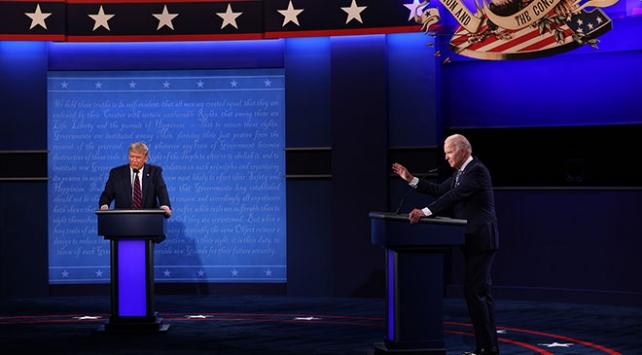 Trump ve Bidenın ilk canlı yayın tartışmasında tansiyon yükseldi