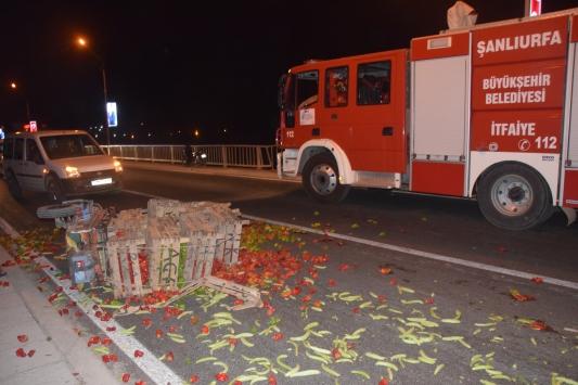 Şanlıurfada trafik kazası: 1 yaralı