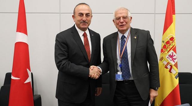 Çavuşoğlu AB Dış İlişkiler Yüksek Temsilcisi Borrell ile görüştü