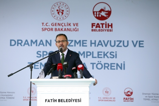 Bakan Kasapoğlu, İstanbulda temel atma törenine katıldı