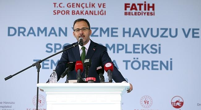 Bakan Kasapoğlu: Türkiyenin iddiası sporda da zirveye çıkmak