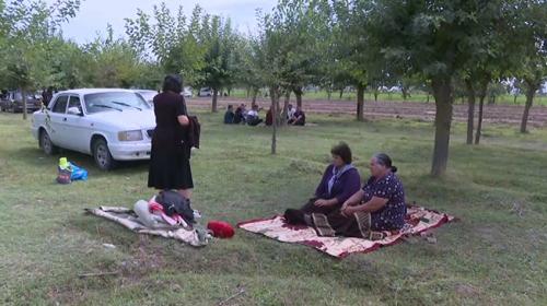 TRT Haber, Azerbaycan'da sivil halkın sığındığı bölgeye gitti