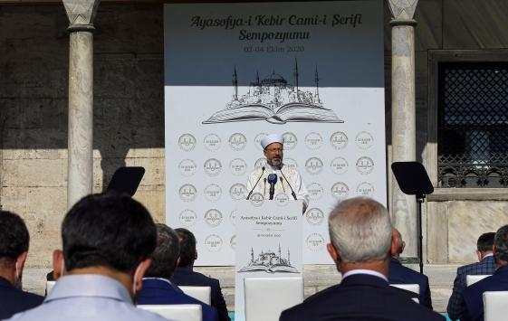 """Diyanet İşleri Başkanı Erbaş, """"Ayasofya-i Kebir Cami-i Şerifi Sempozyumu""""nun açılışında konuştu"""