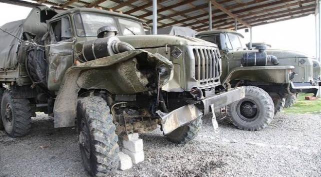 Ermenistan ordusundan ele geçirilen silah, mühimmat ve araçları görüntülendi