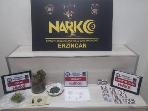 Erzincan merkezli uyuşturucu operasyonunda 2 zanlı tutuklandı