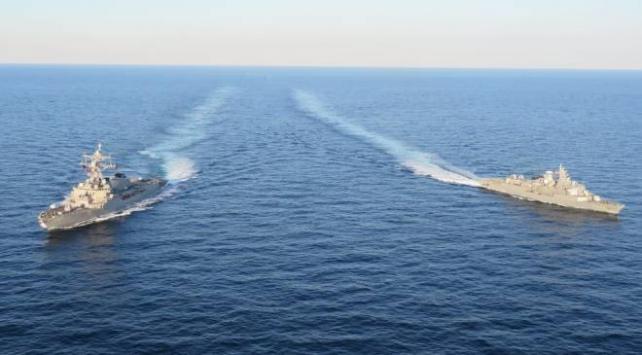 TCG Barbaros fırkateyni, ABD destroyeriyle Karadenizde geçiş eğitimi yaptı