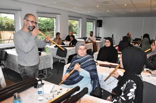 Danimarka Türk Diyanet Vakfının ney kursuna ilgi yoğun