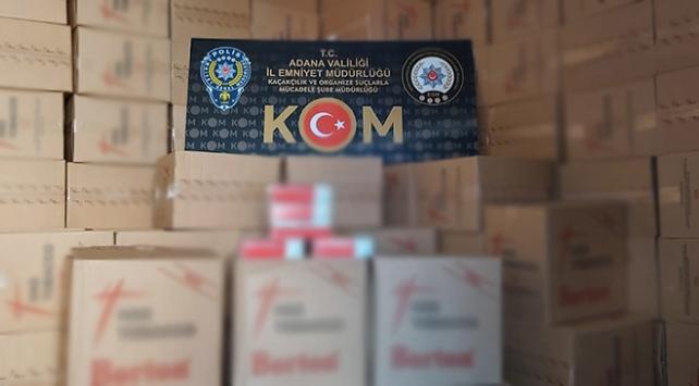 Adanada 28 milyon 800 bin makaron ele geçirildi
