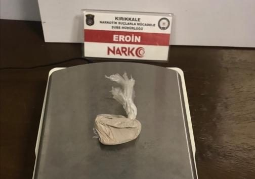Kırıkkalede uyuşturucu operasyonunda 1 şüpheli tutuklandı