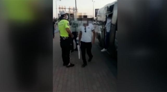 Konyada fazla yolcu taşıyan minibüs sürücülerine ceza