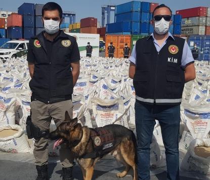 İstanbulda bir gemide 228 kilo 438 gram kokain ele geçirildi