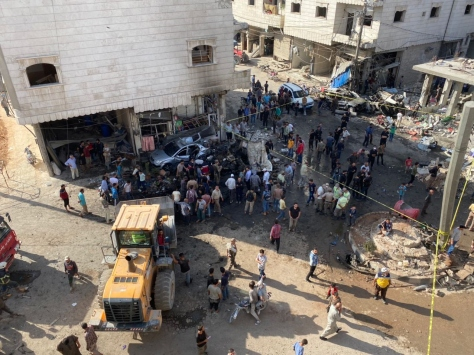 Suriyenin kuzeyindeki Bab ilçesinde bombalı terör saldırısı