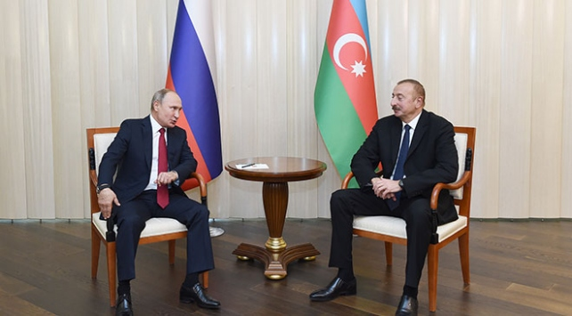 Azerbaycan Cumhurbaşkanı Aliyev Putin ile görüştü