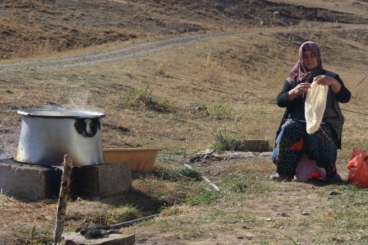 Yılın yarısını yaylada geçiren göçerlerin zorlu hayatı