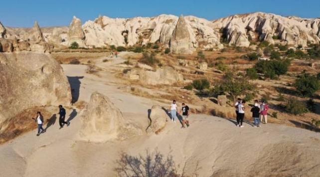 Kapadokyayı 9 ayda yaklaşık 700 bin turist gezdi