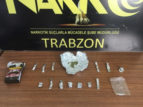 Trabzonda uyuşturucu operasyonu