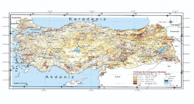 Türkiyenin Su Erozyon Haritası güncellendi