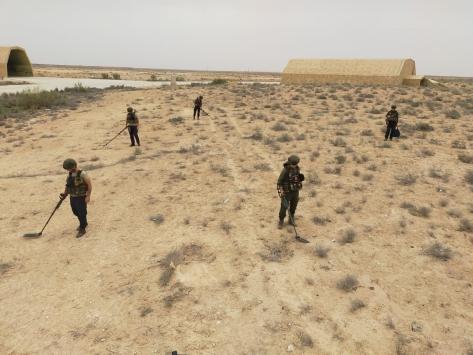 Libyada darbeci Hafterin tuzakladığı mühimmatları TSK timleri imha ediyor