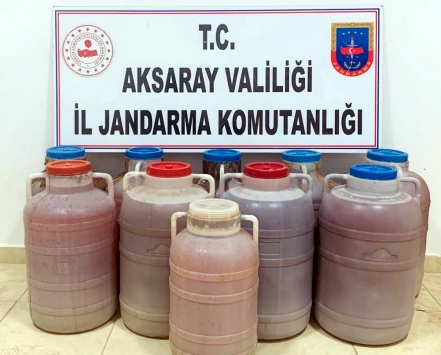 Aksarayda kaçak içki operasyonunda 2 şüpheli gözaltına alındı