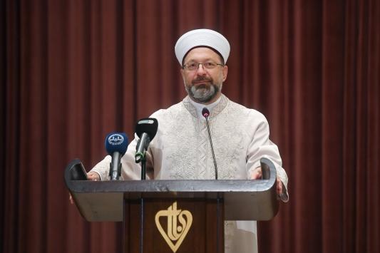 Erbaş, Kuran-ı Kerimi Güzel Okuma Yarışması Ödül Töreninde konuştu: